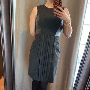Julia Jordan Faux Leather Accent Sheath Dress Sz4